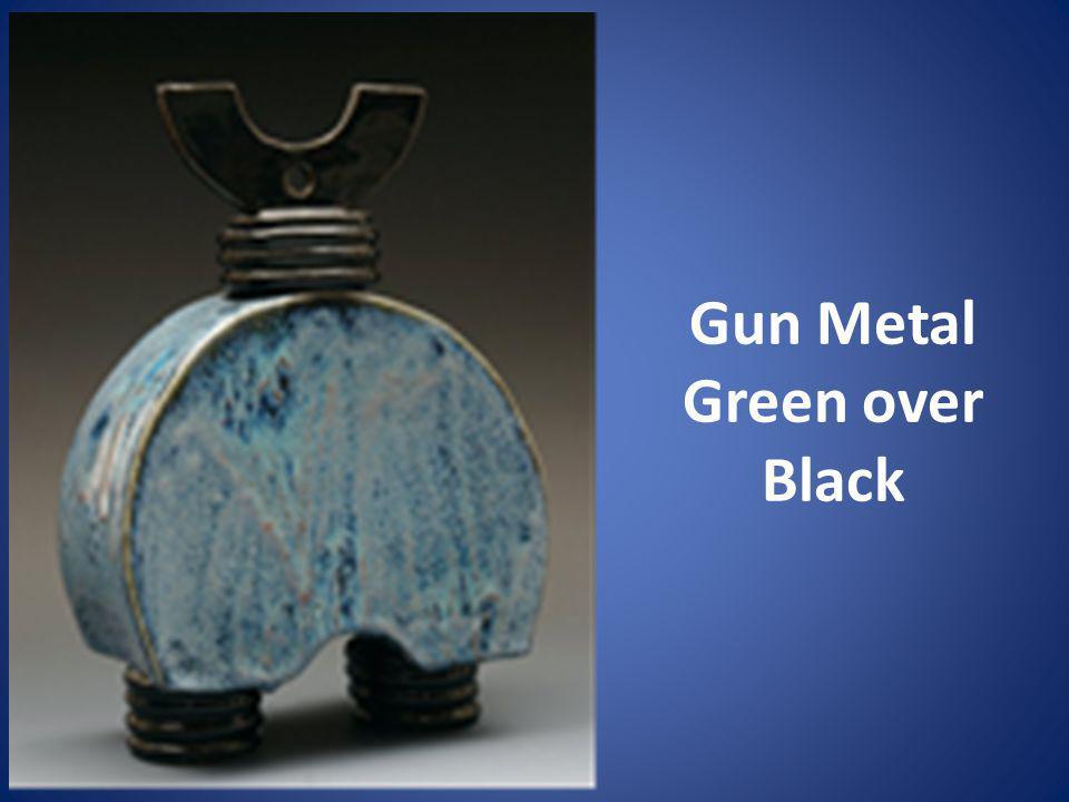 Gun Metal Green over Black