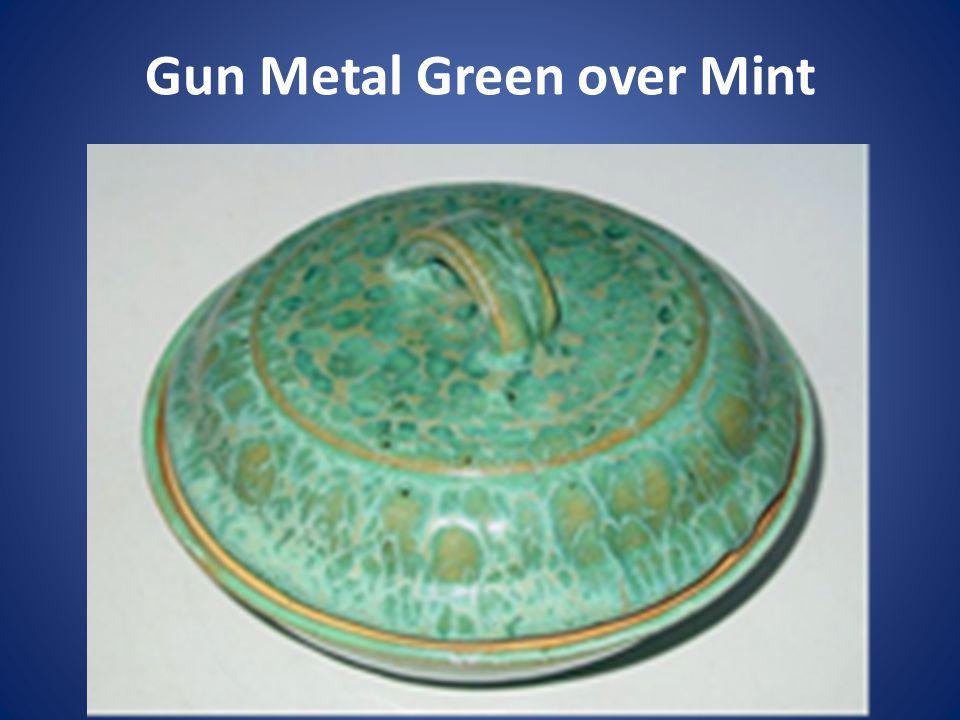 Gun Metal Green over Mint