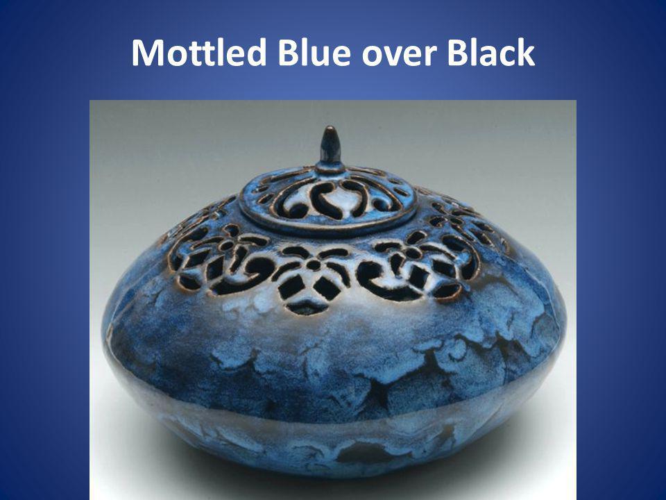 Mottled Blue over Black