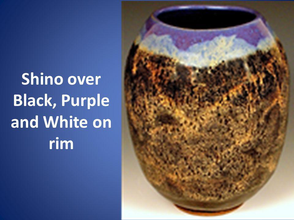 Shino over Black, Purple and White on rim
