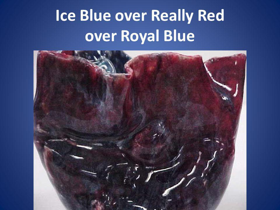 Ice Blue over Really Red over Royal Blue