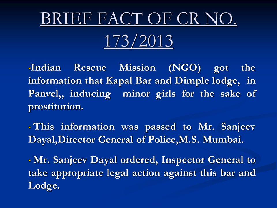 BRIEF FACT OF CR NO.