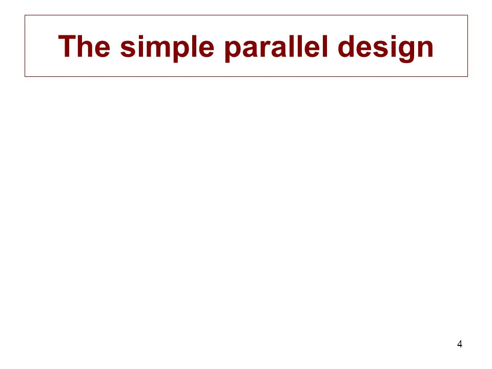 4 The simple parallel design
