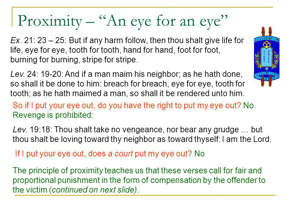 Proximity – An eye for an eye Ex.