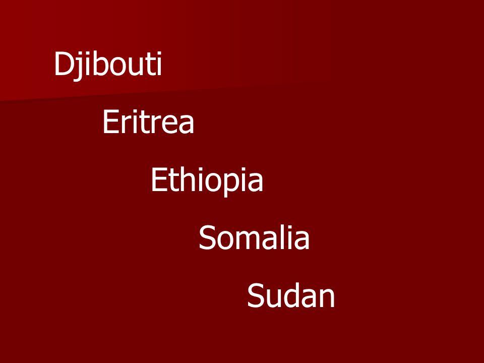 Djibouti Eritrea Ethiopia Somalia Sudan