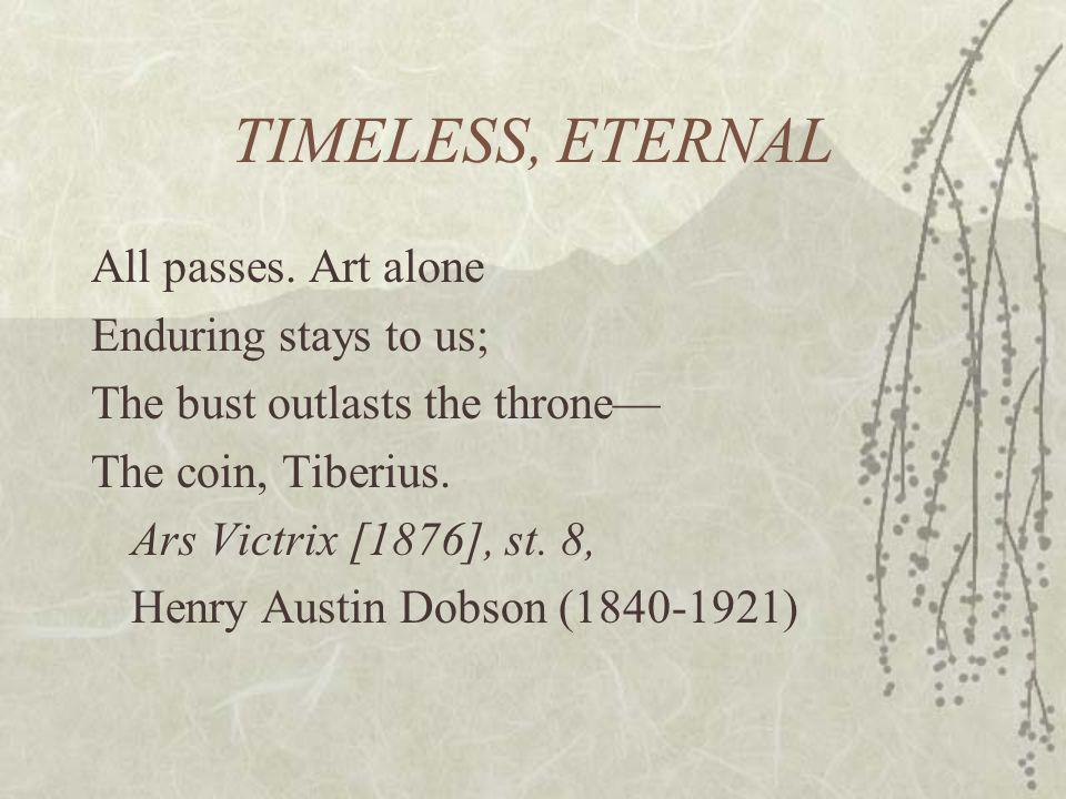 TIMELESS, ETERNAL All passes.
