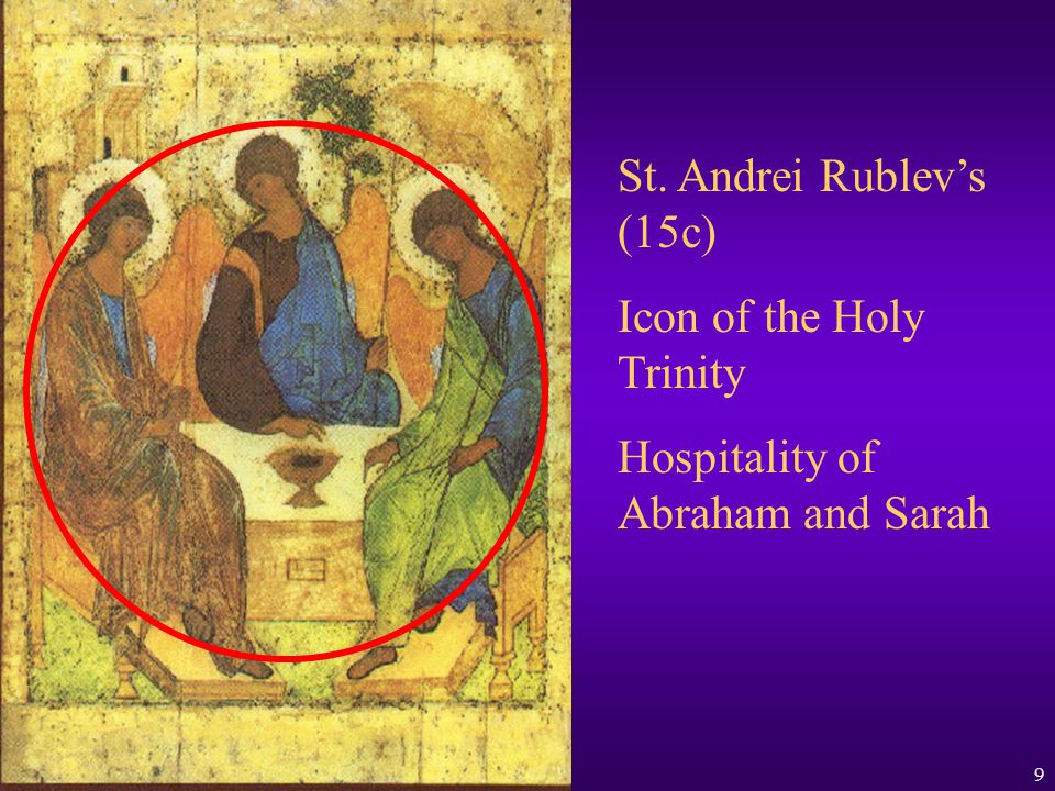36 th Biennial Clergy Laity Congress Orthodox Catechesis and the Religious Educator 9 St. Andrei Rublevs (15c) Icon of the Holy Trinity Hospitality of