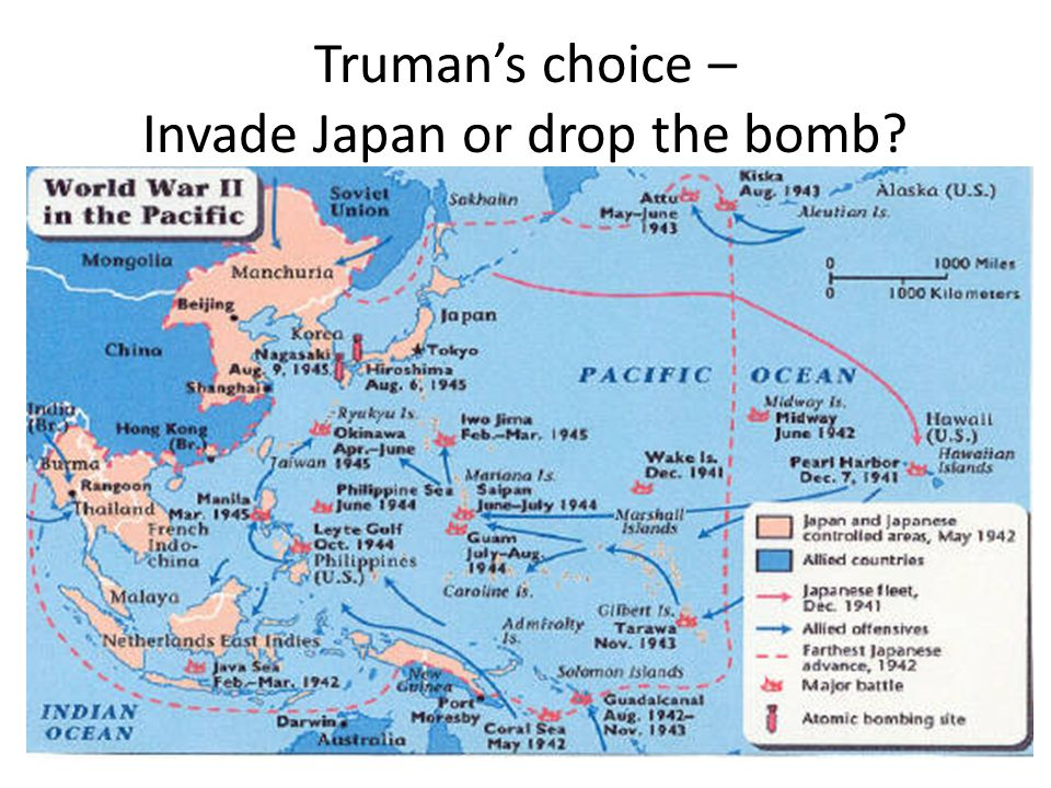 Trumans choice – Invade Japan or drop the bomb