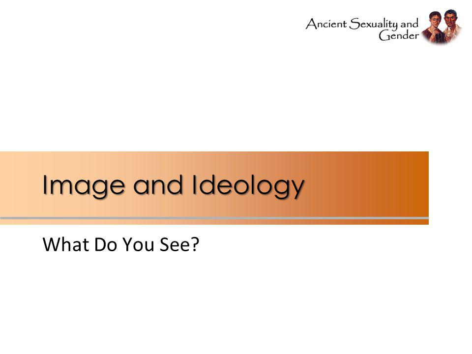 Image and Ideology What Do You See?