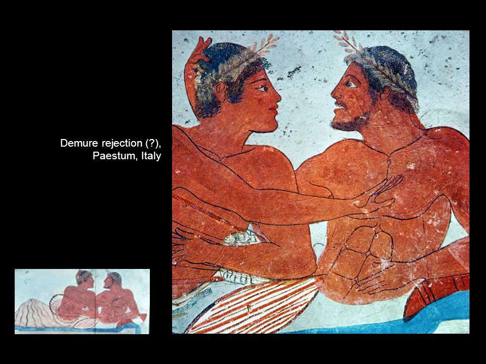 Demure rejection (?), Paestum, Italy