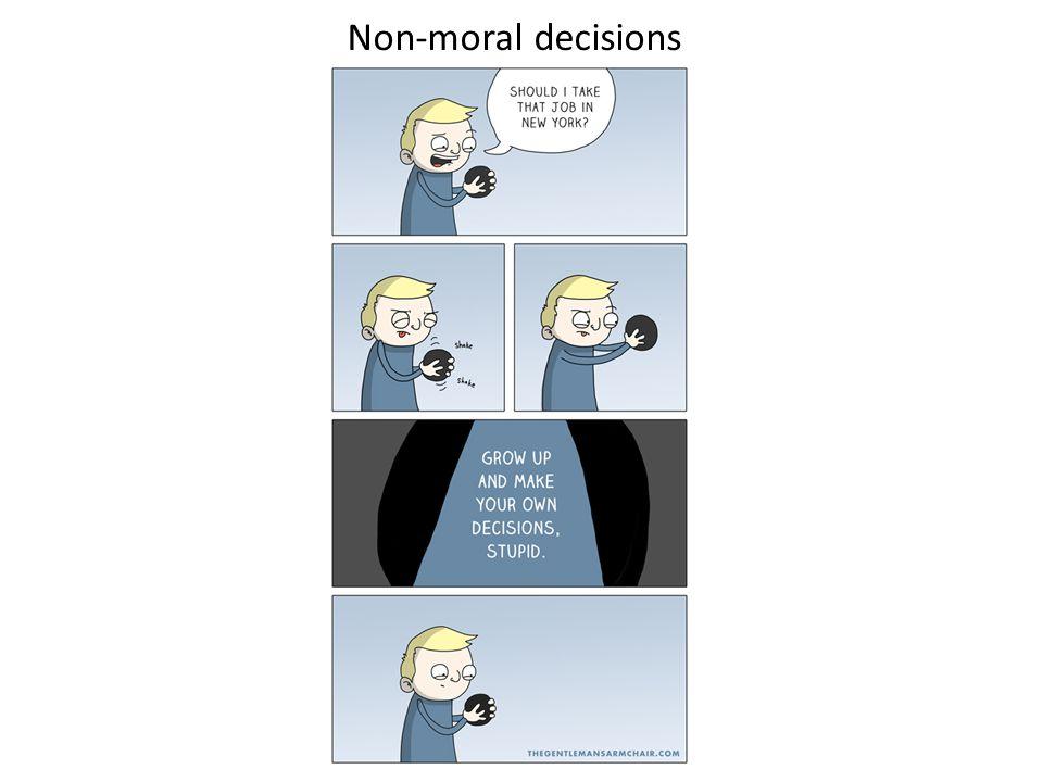Non-moral decisions