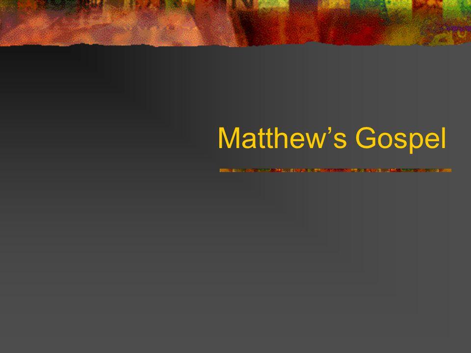 Matthews Gospel