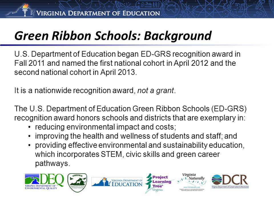 Green Ribbon Schools: Background U.S.