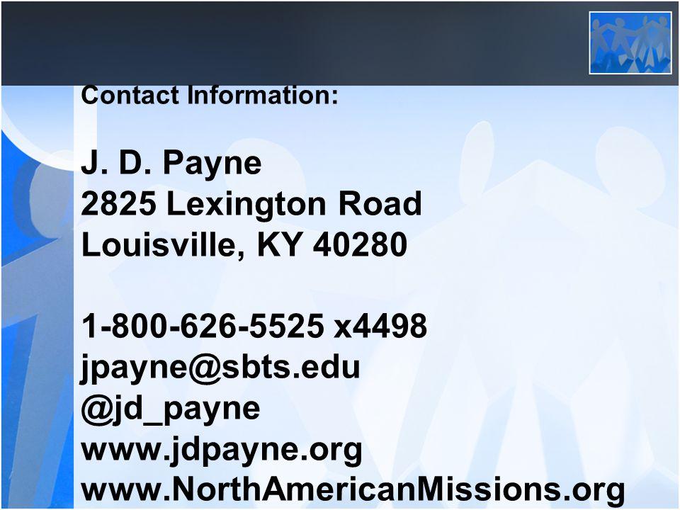Contact Information: J. D.
