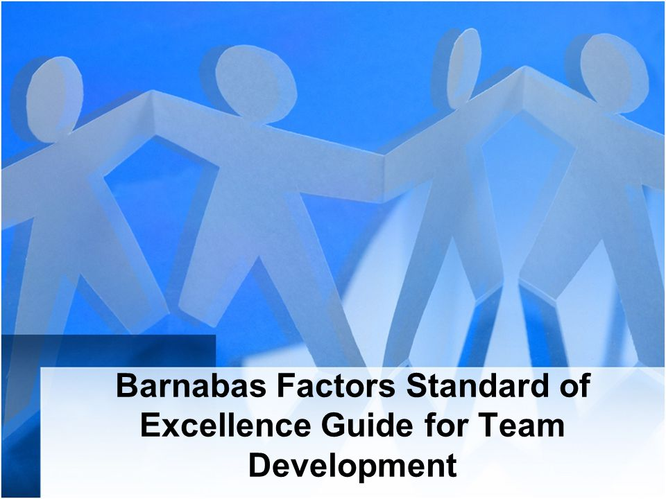 Barnabas Factors Standard of Excellence Guide for Team Development