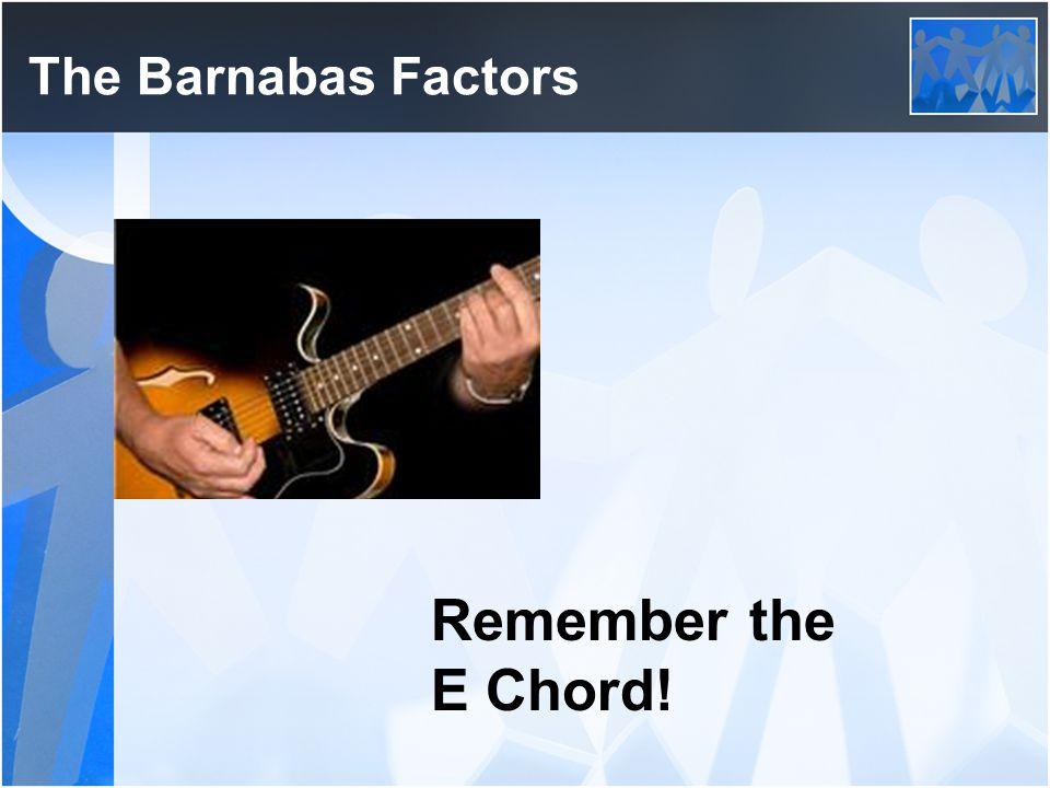 Remember the E Chord!