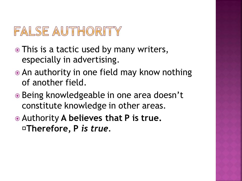 This is a tactic used by many writers, especially in advertising. An authority in one field may know nothing of another field. Being knowledgeable in