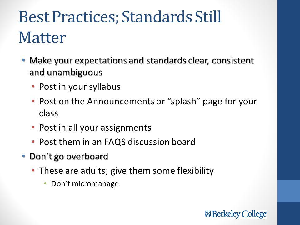 Best Practices; Team Effort