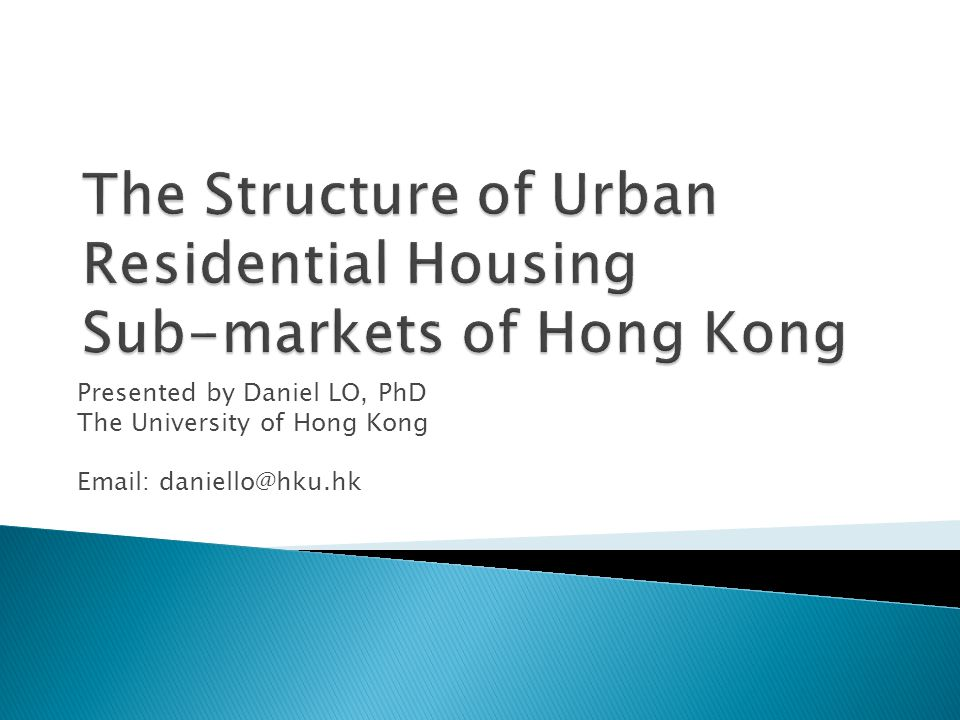 Urban housing market of Hong Kong, i.e.