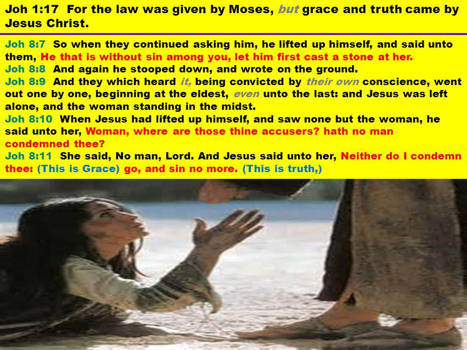 Joh 8:7 So when they continued asking him, he lifted up himself, and said unto them, He that is without sin among you, let him first cast a stone at h