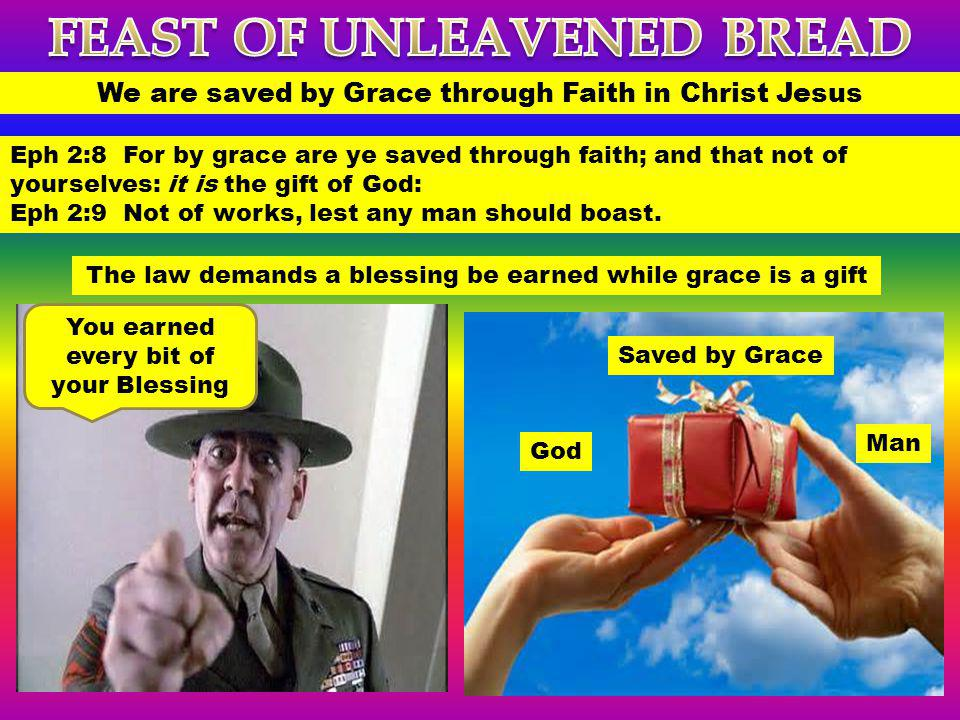 We are saved by Grace through Faith in Christ Jesus Eph 2:8 For by grace are ye saved through faith; and that not of yourselves: it is the gift of God