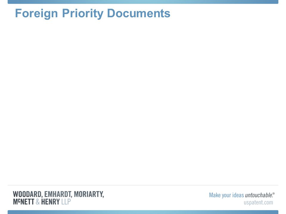 Foreign Priority Documents