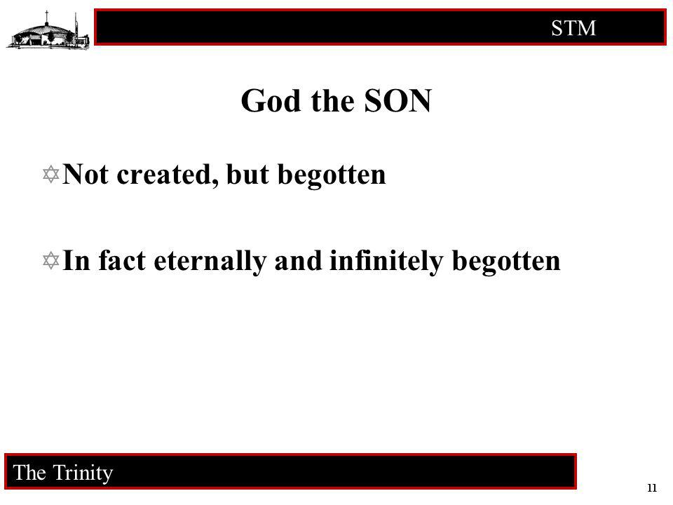 11 STM RCIA The Trinity God the SON Not created, but begotten In fact eternally and infinitely begotten