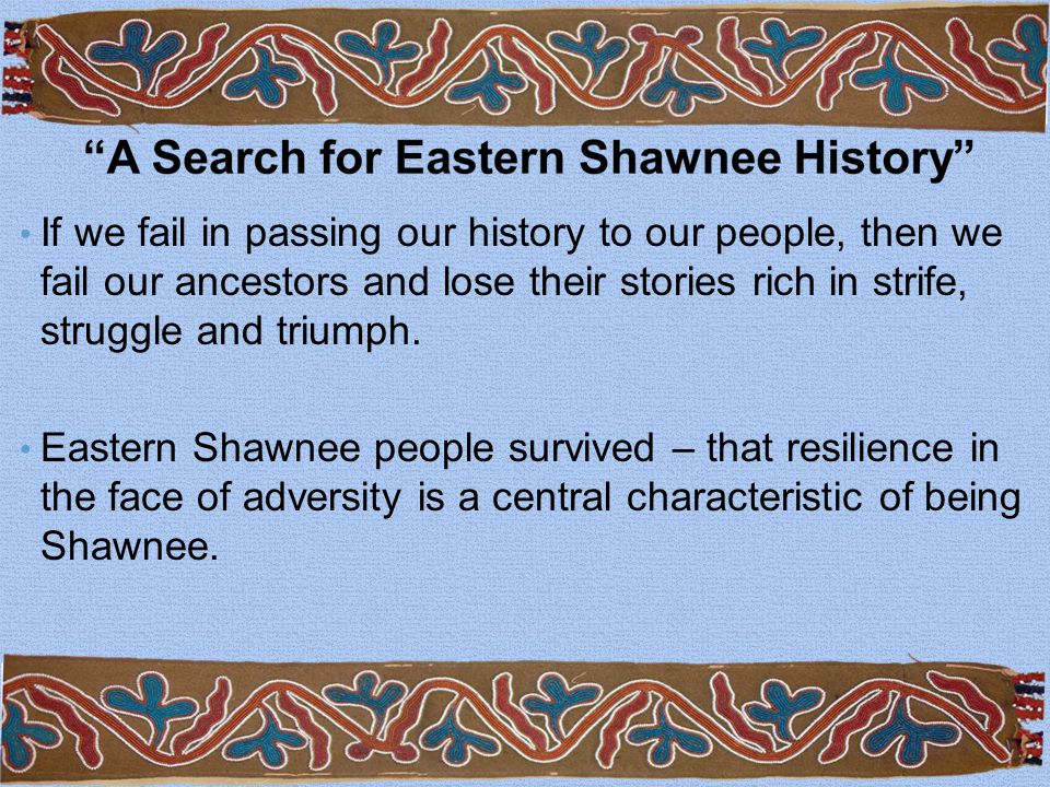 If we fail in passing our history to our people, then we fail our ancestors and lose their stories rich in strife, struggle and triumph.