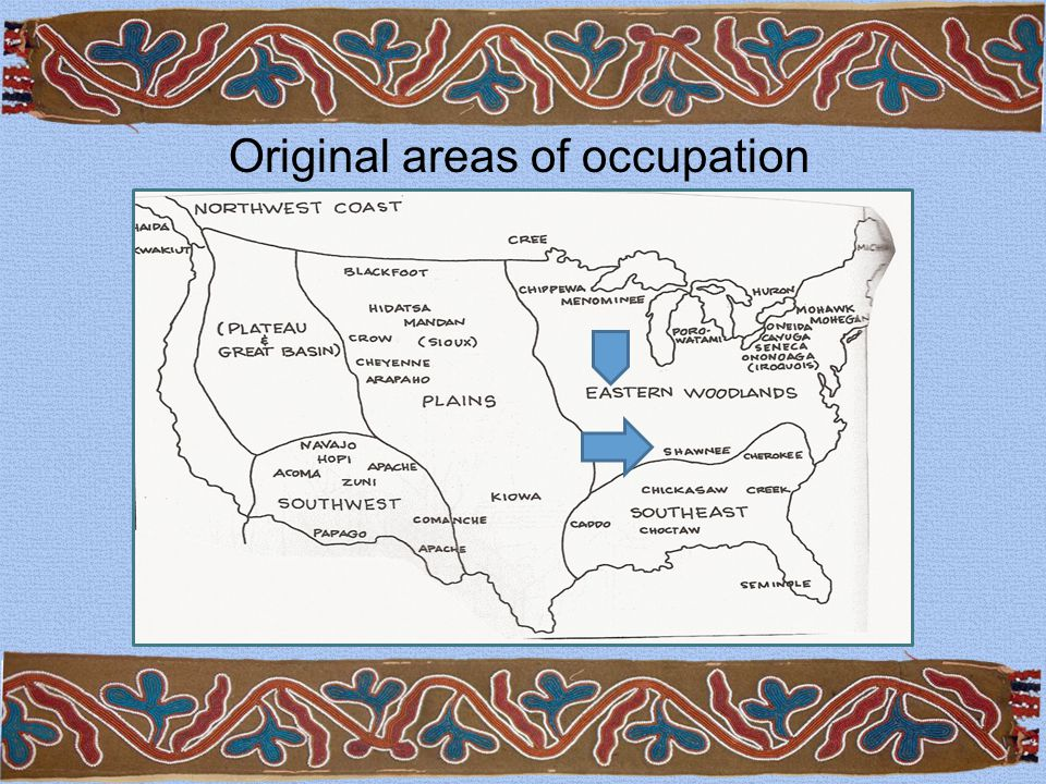 Original areas of occupation