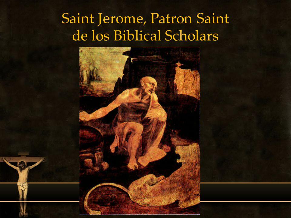 Saint Jerome, Patron Saint de los Biblical Scholars