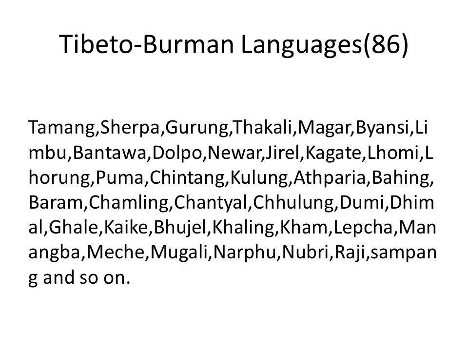 Austro-Asiatic(3) Santhali, Khadiya,Munda/Mundari Dravidian(1): Jhagadh/Kurukh Language Isolate: Kusunda (Watters etal.2005) Sign Languages: Nepali Sign Language Jhankot Sign Language Jumla Sign Language Ghandruk Sign Language