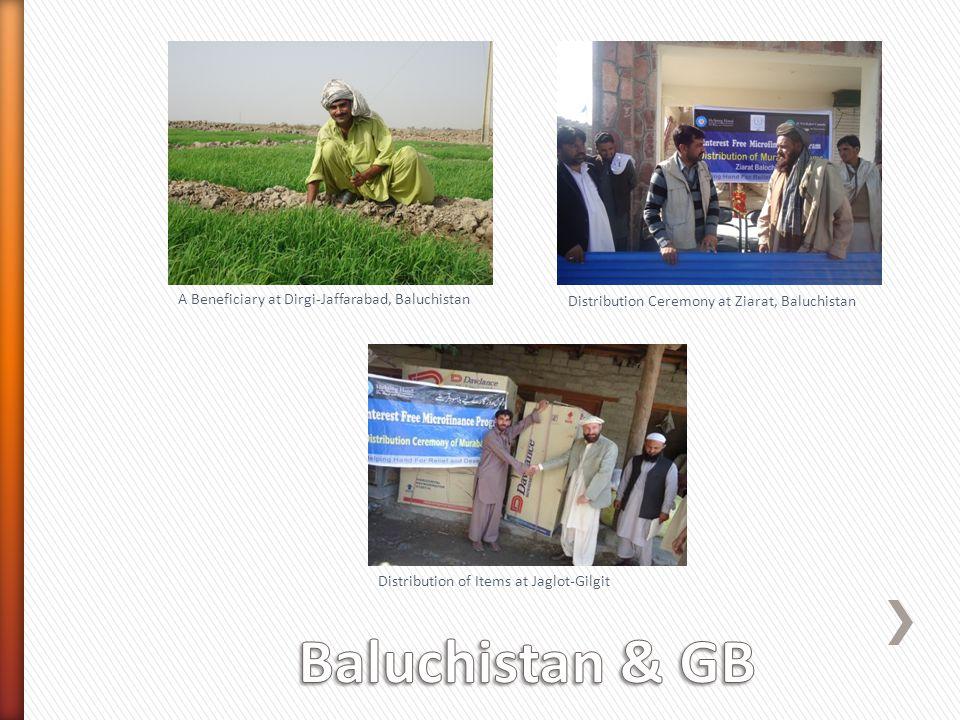 A Beneficiary at Dirgi-Jaffarabad, Baluchistan Distribution Ceremony at Ziarat, Baluchistan Distribution of Items at Jaglot-Gilgit
