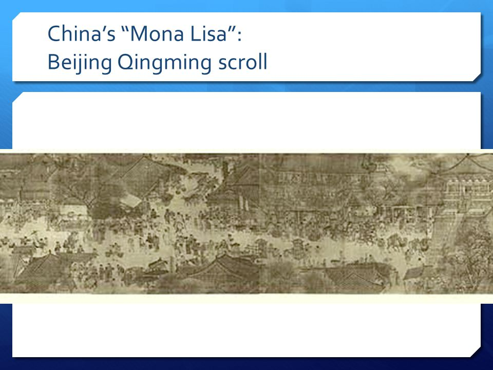 What does this scroll tell you about China during the Song Dynasty?