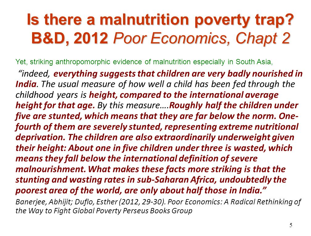 Malnutrition: comparing explanations Export crops divert food abroad Unequal land dist.
