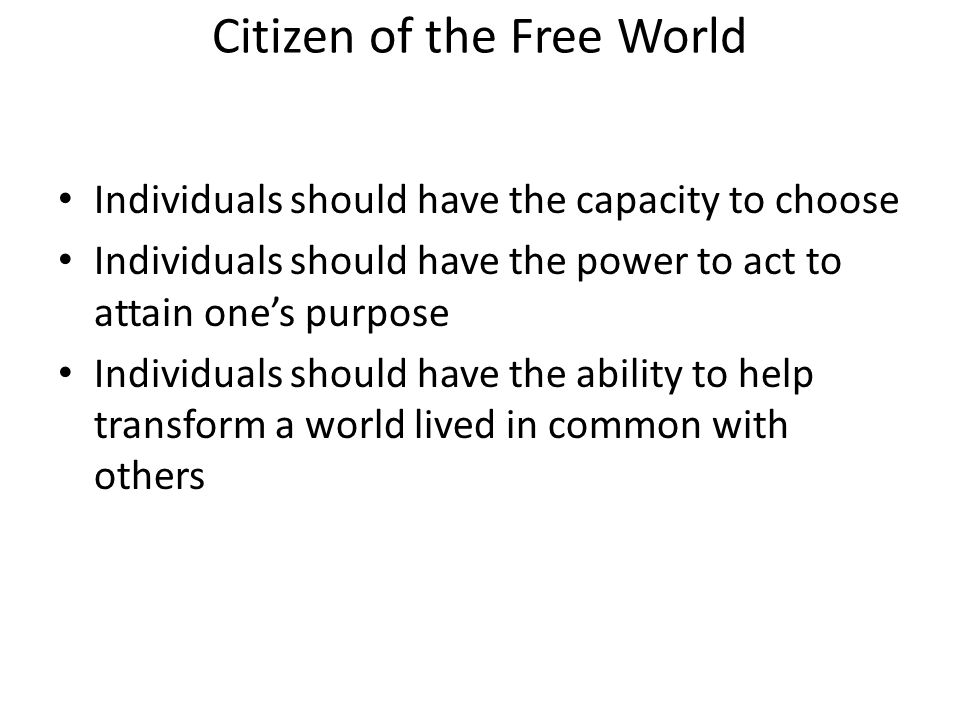 What limits human freedom.