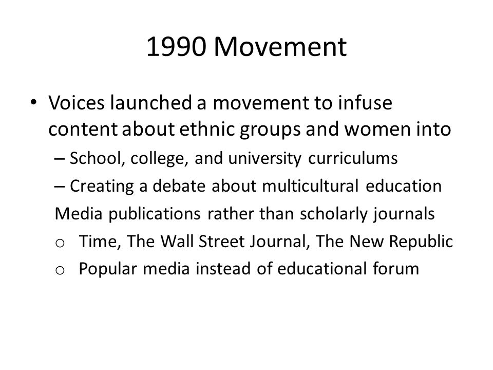Goals of Freedom Movement Full inclusion of victimized groups into Western Institutions Create a nation – state that actualizes Not about diversity, but designed to reduce race/class/gender divisions in the US and world