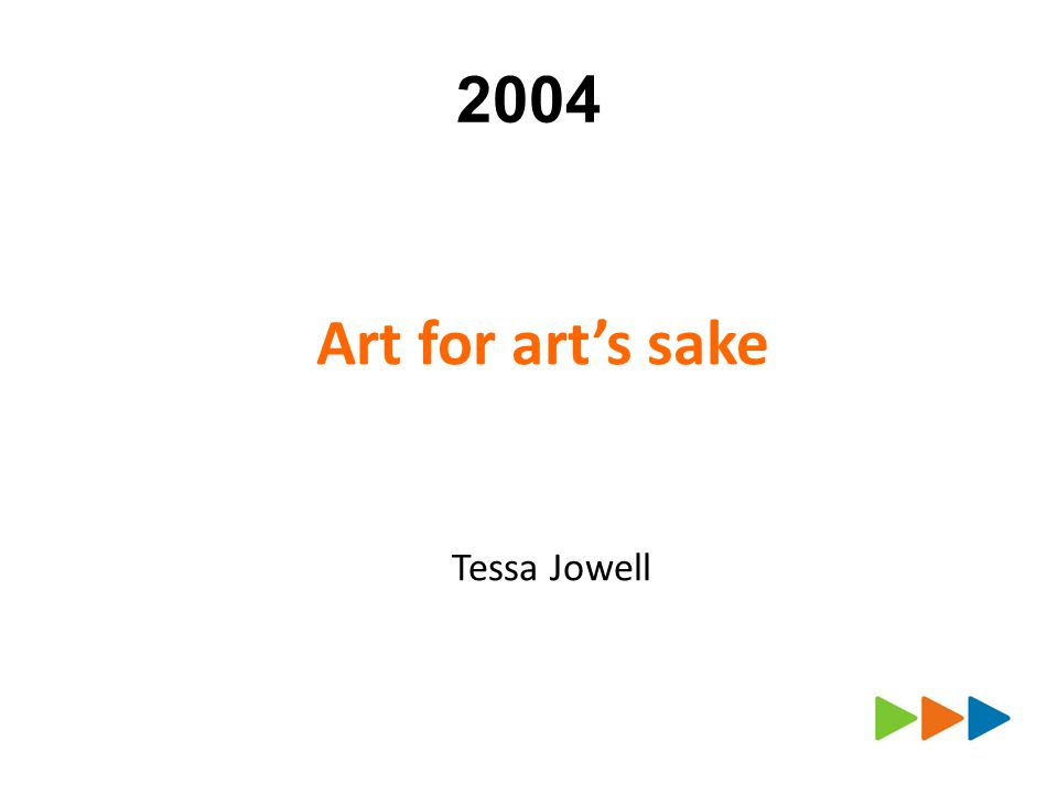 2004 Art for arts sake Tessa Jowell