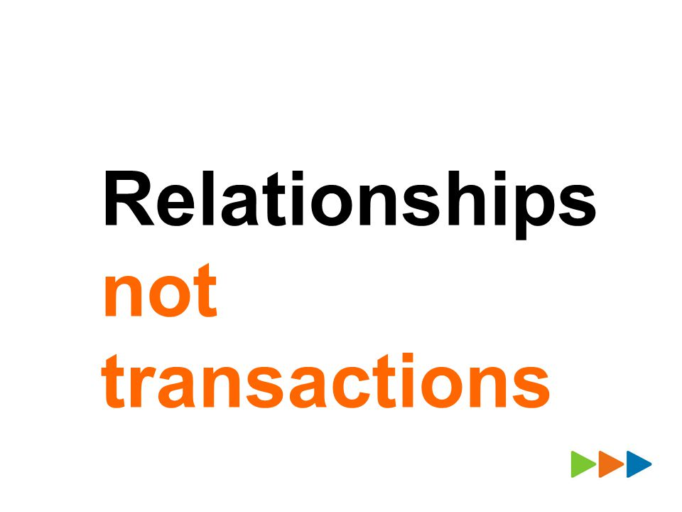 Relationships not transactions