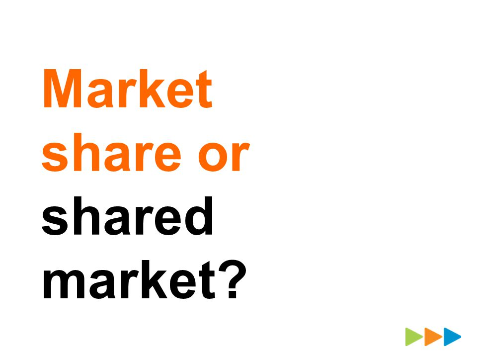 Market share or shared market?