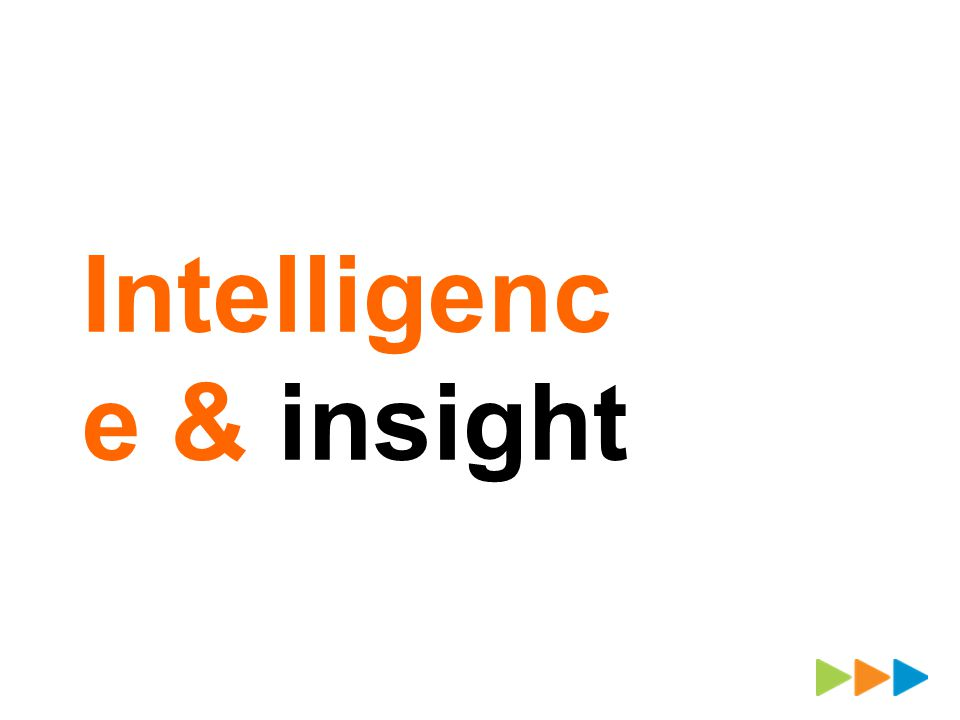 Intelligenc e & insight
