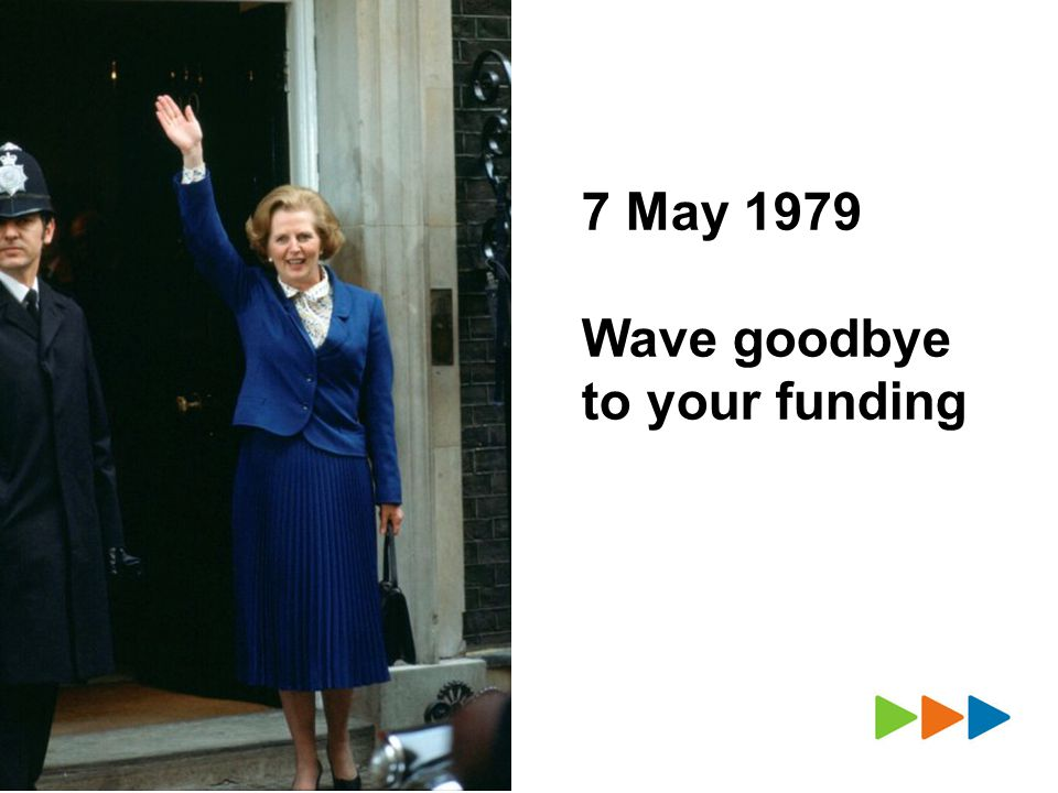 7 May 1979 Wave goodbye to your funding