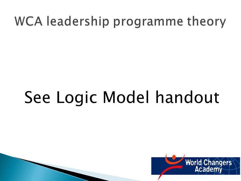 See Logic Model handout