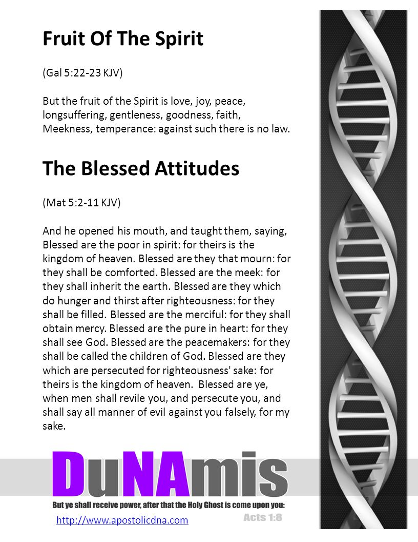 http://www.apostolicdna.com Word of Knowledge Word of Wisdom Discerning of Spirits Gift Of Tongues Interpretation Of Tongues Gift Of Prophesy Gift Of Faith Gifts of Healing Working of Miracles The DNA of Spiritual Gifts The Gifts Of The Spirit 1 Corinthians 12:1-11