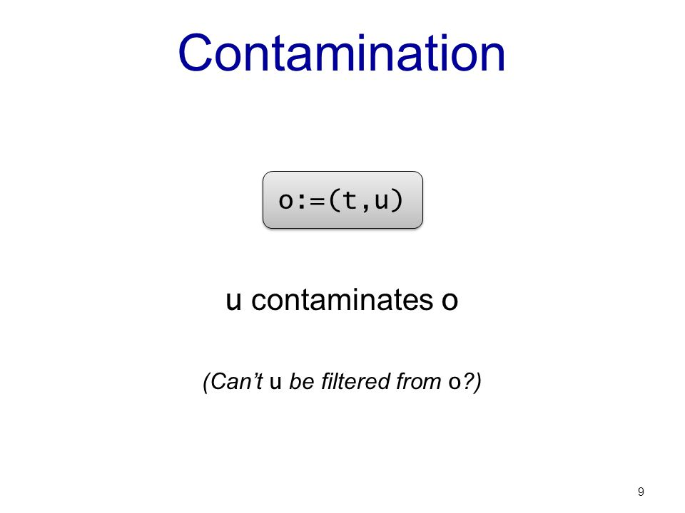Quantification of Contamination Use information theory: information is surprise X, Y, Z: distributions I (X,Y): mutual information between X and Y (in bits) I (X,Y | Z): conditional mutual information 10