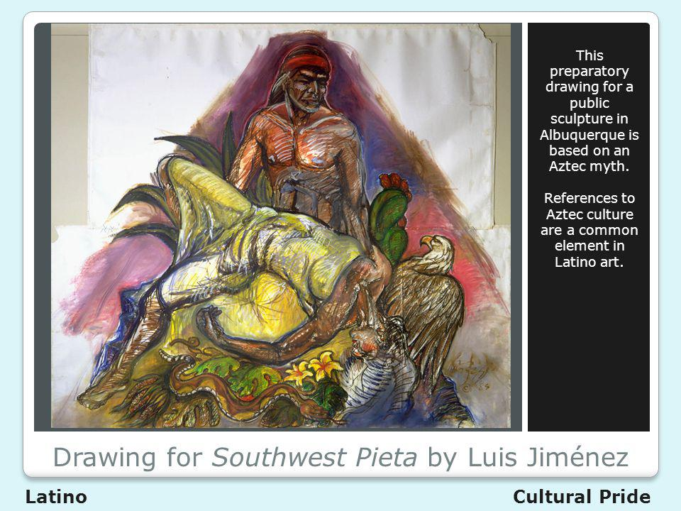 Drawing for Southwest Pieta by Luis Jiménez This preparatory drawing for a public sculpture in Albuquerque is based on an Aztec myth.
