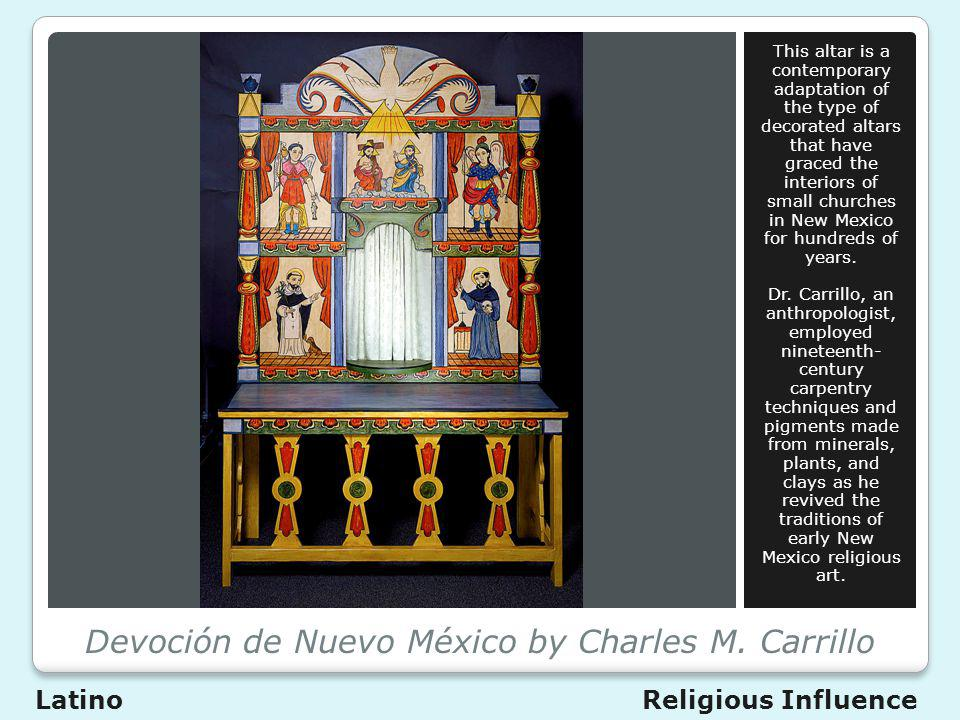 Devoción de Nuevo México by Charles M. Carrillo This altar is a contemporary adaptation of the type of decorated altars that have graced the interiors