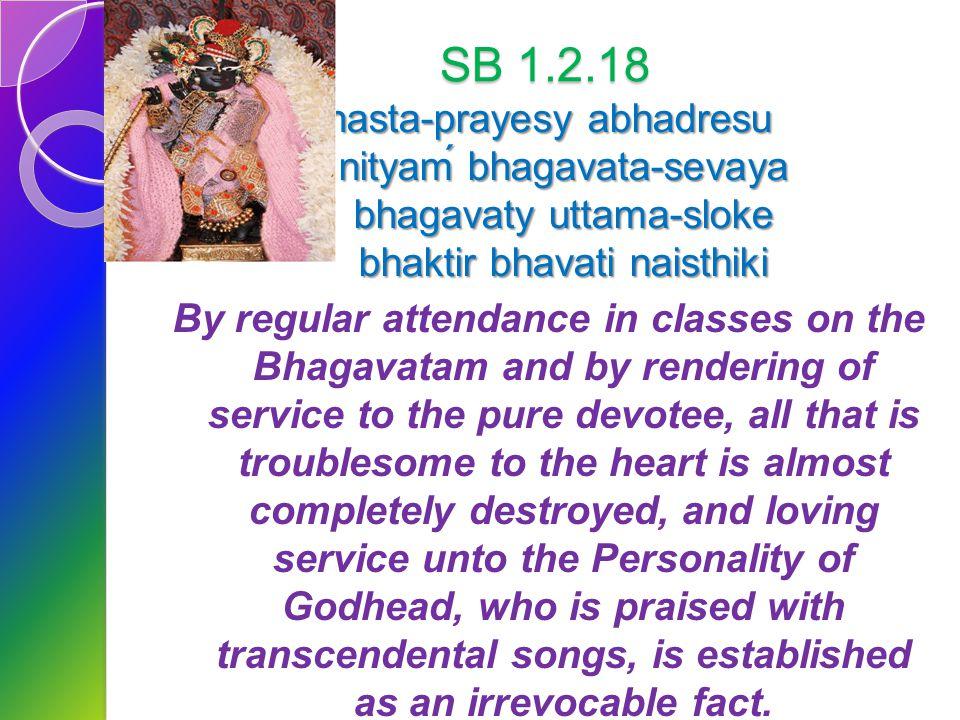 SB 1.2.4 narayanam namaskrtyam naram caiva narottamam devim sarasvatim vyasam tato jayam udirayet Before reciting this Srimad- Bhagavatam, which is th
