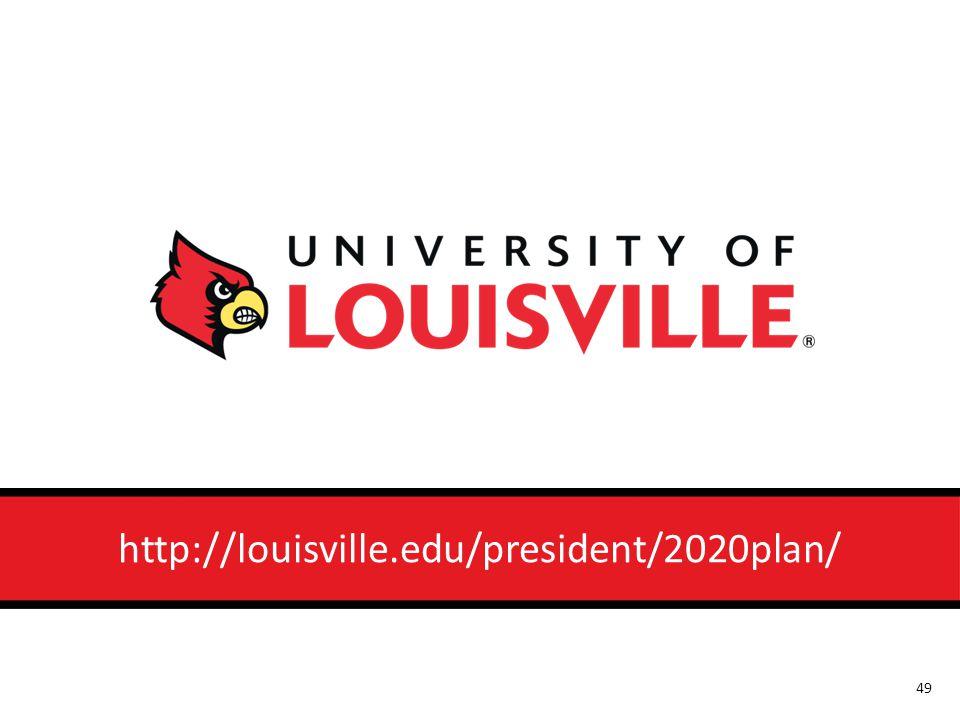 http://louisville.edu/president/2020plan/ 49