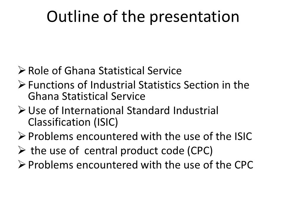 Role of Ghana Statistical Service (GSS) - The Statistical Service of Ghana is mandated by law (PNDC law 135) as an official institution and charged with the responsibility for collection,compilation,analysis,publication and dissemination of all forms of statistics in Ghana for general and administrative purposes.