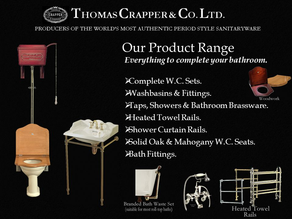 Our Product Range Complete W.C. Sets. Washbasins & Fittings.